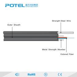 Cabo de fibra óptica de auto-suporte cabo Bow-Type Gjyxch