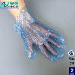 OEM Cheap Acceptable clair des gants de plastique jetable PE