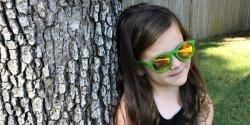 귀여운 어린이 어린이 편광 UV400 목재 선글라스