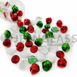 De Gemmen van het Glas van het Decor van Kerstmis parelt de Rode Groene AcrylDiamanten van Klokken voor de Vullers van de Vaas, de Verspreiding van de Lijst, de Houder van de Kaars, de Decoratie van de Verjaardag