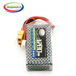 Personalizar el tamaño de la batería Lipo recargable de 7,4 V 11.1V 22,2V 1200mAh como Soft Shell
