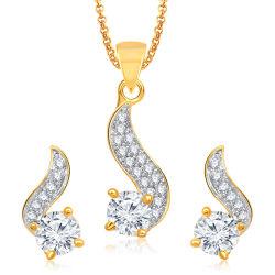 18kイエロー・ゴールドの宝石類はダイヤモンドのマイクロ設定とセットした