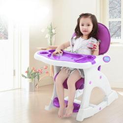 Детский Costzon высокое место председателя, 3 в 1 детская стол и стул, конвертируемой вспомогательное сиденье с 3-Установите регулируемый лоток для подачи регулируемого сиденья назад фиолетового цвета