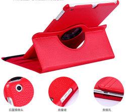 Unité centrale de Rotating Crocodile du rouge 360 Leather Cover pour l'iPad