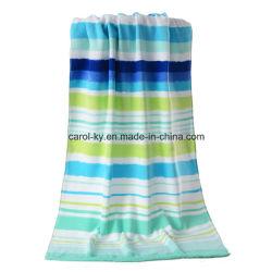Цветной полосой хлопок бархат пляж полотенце