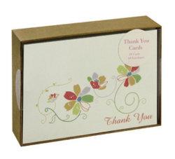 Producto Promocional de plegado de papel cortado Gracias Tarjeta de felicitación