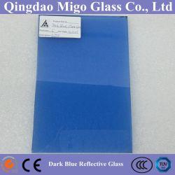 Bleu foncé réfléchissant en ligne le verre de construction (4 mm 6 mm 5 mm 8 mm)