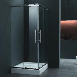 正方形の滑走のコーナーによって強くされるガラスシャワー室(M-672)