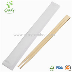Commerce de gros de qualité supérieure du manchon de papier individuelle jetable Baguettes en Bambou