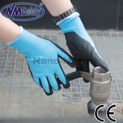 Handschoen van de Veiligheid van het Nitril van de Greep van Nmsafety de Palm Gestippelde