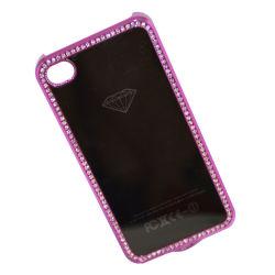 Placage lumineux Crystal Case pour l'iPhone, étui rigide pour iPhone 4G (BSPC-00008)