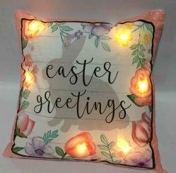 Saison de vacances pour la décoration de cadeaux de Pâques jusqu'Coussin de lumière LED oreiller