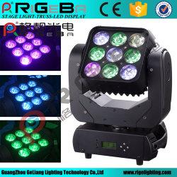 9*10Вт Светодиодные перемещение светового пучка мыть этапе Matrix лампа головки блока цилиндров