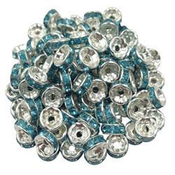 Sterling Silver Bracelet Bracelet Chaîne Rhinestone entretoise
