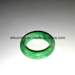 Semi-Pedra Preciosa Jade Anel Verde