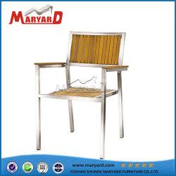 Sedie da pranzo in legno rustico all'aperto in legno teak legno