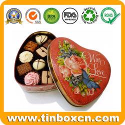 Weinlese-Metallinner-geformtes Schokoladen-Zinn für Hochzeits-Valentinsgruß-Geschenke