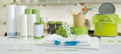 100% Bio Saco para roupa suja Compostável Dog Bag biodegradáveis certificadas saco para roupa suja