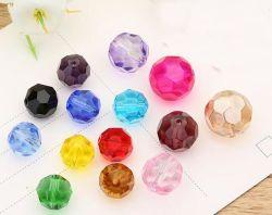 宝石類または靴の/Bag/Clothesののための32の面のフットボールのクリスタルグラスのビードのあたり装飾