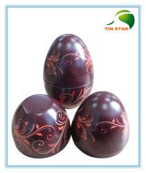 環境の物質的なイースターエッグの形チョコレートギフトの包装の錫ボックス