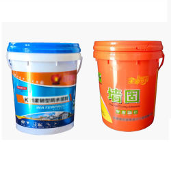 HDPE 드럼 배럴 유형 주문 다채로운 음식 급료 플라스틱 물통 10L 16L 20L 플라스틱 들통