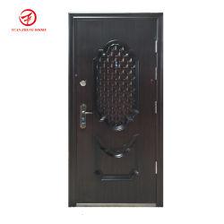 Novo Estilo de preço mais barato no interior e exterior da porta de segurança em aço