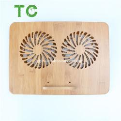 工場価格の高品質のタケの調節可能なラップトップの立場のラップトップのクーラーのラップトップの冷却ファン