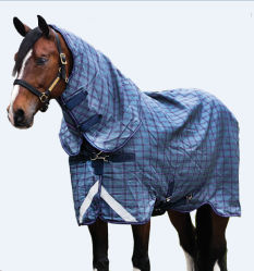 Оптовая торговля теплой зимой Ripstop крышку горловины лошадь явка ковер (SMR1703)