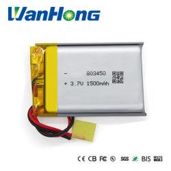 Los TME Kc 803450pl 2p 1500mAh de polímero de litio recargable para producto portátil/Lamp