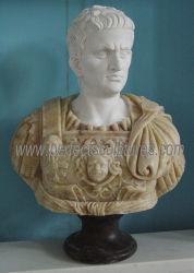 مصنع الصين بالجملة السعر ستون جندي روماني رئيس تمثال الرخام نحت المحارب نحت الجسم (SY-S333)