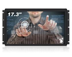 17.3 Zoll-Metallrahmen industrielle LCD-Bildschirmanzeige mit kapazitivem Fingerspitzentablett