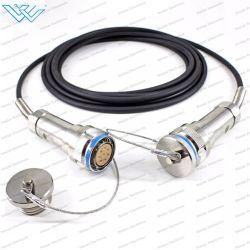 Cavo patch in fibra ottica tattica J599 a 4-8 core con Aviation Connettori impermeabili