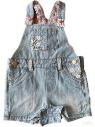 Baby Kids Girl Fashion Cute Groothandel Denim Dungaree met veter En metalen ring