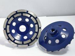 Zweireihige Segment Hochfrequenz 5inch Diamant abrasive Diamond Cup Rad