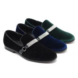 2020 فعليّة حجم [لزدا] [درسّ شو] رجال صاف لون مخمل متصلة يدخّن أحذية يد - يجعل شهام حزب معدن نمو مخمل أحذية ([ك1154-116])