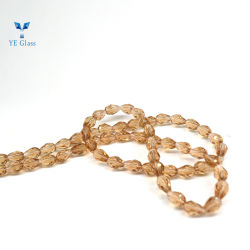 Forma de lágrima Crystal Pearl cordões para decorar Cordão de tomada de joalharia de vidro