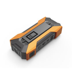A fábrica12000mAh Ultrasafe 800A Bateria de Lítio Portátil Jump Starter Pack para até 6 litros 3 litros de gasolina para motores diesel Screen-Display iluminação LED
