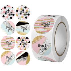 Индивидуальные пользовательские печати клей рулон виниловые наклейки таблички Спасибо этикетки