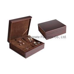 고대 광택이 없는 래커는 호두 목제 시계 보석 패드를 가진 고정되는 전시 저장 케이스 상자를 그렸다