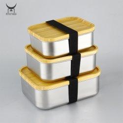 Edelstahl Lebensmittel-Lagerbehälter Metall-Lunch-Box