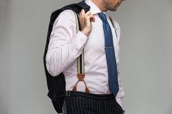 Pantalon de mode des accolades, les renforts pour les pantalons, d'hommes accolades