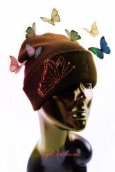 Hotfix Motif Fashion Butterfly Design Dames Cap Rhinestone