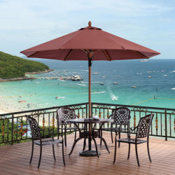 Mobilier extérieur 3m Windproof parasol de plage pour table de jardin