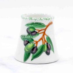 Coppa in vetro con vetro effetto ceramica e Olive Design artigianale regalo