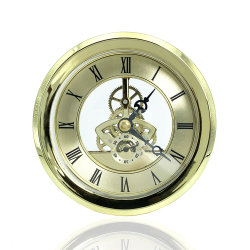 시계, 스켈레톤 디자인, 쿼츠 모비먼트 라운드