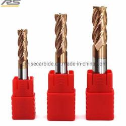 HRC45 Tungsten Carbide 4 Flute lange-lengte-eindmolens voor Snijgereedschap