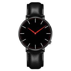 Ipb Сталь черного цвета из натуральной кожи ремни запястья смотреть Сапфировое стекло роскоши стали часы
