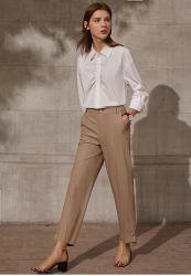 Новая конструкция простая костюм повседневный Pant Split Asymmeric низ одежды