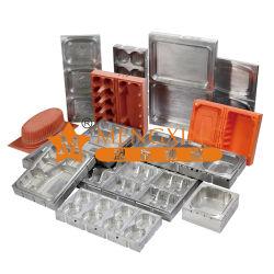 3 Estaciones termoformadora de corte de aluminio de molde de apilamiento de formación