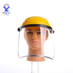 Plena viseira transparente de protecção de plástico Viseiras com capacetes